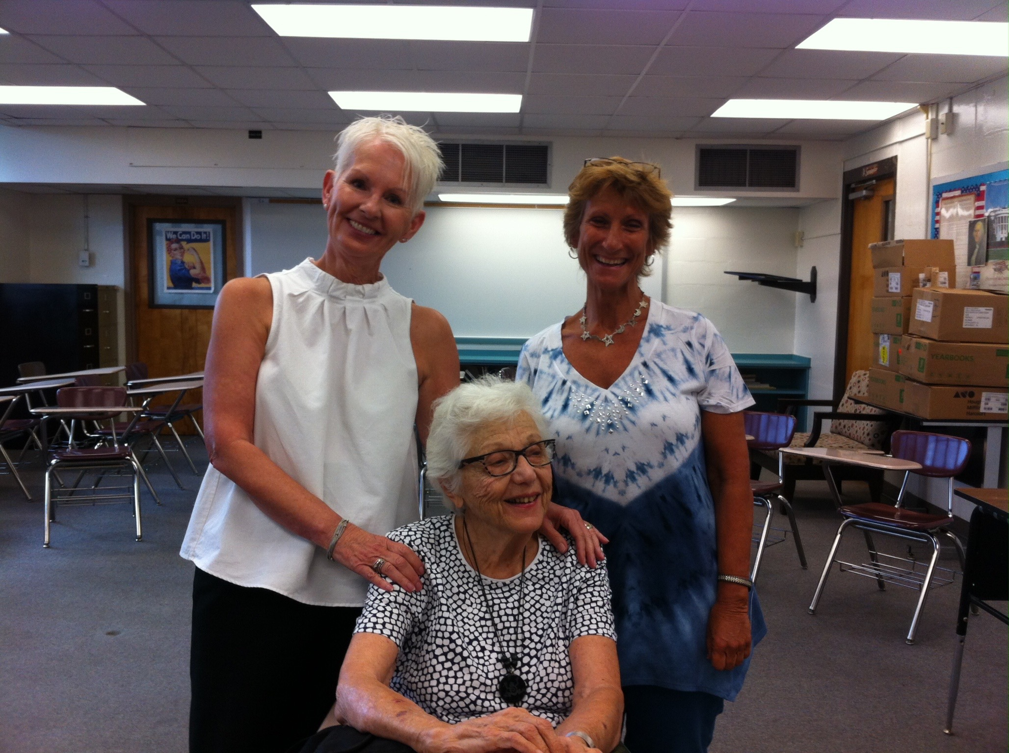 St. Johns County Volunteer reading pals Erika Bauserman, Molly Grossholz and Barbara Brenner pose after presenting a reading work shop during the Summer Reading Conference hosted by the ELC of North Florida and the RSVP program of St. Johns County.