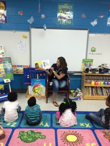"The VPK class at Mosely Elementary School in Putnam County enjoys ""Not Norman: A Goldfish Story"" by Kelly Bennett"